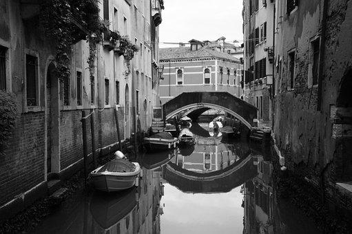 Venice, Italy, Water, City, Canal, Boat, Tourism