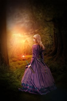 Woman, Fee, Human, Nature, Magic, Forest, Mysterious