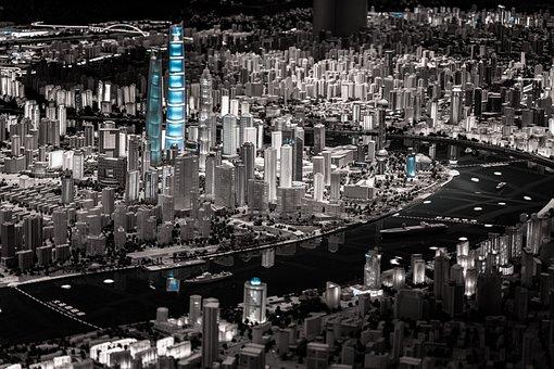 Shanghai, Model, Museum, China, City, Cityscape, Asia