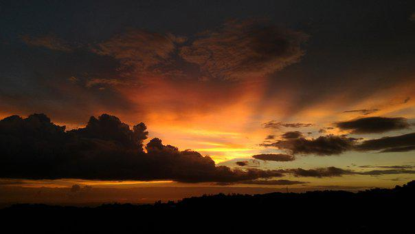 Taipei, Sun Ming Shan, The Evening Sun, Night, Twilight