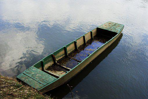 River Boat, Old, Water, River, Boat, Abandoned, Europe