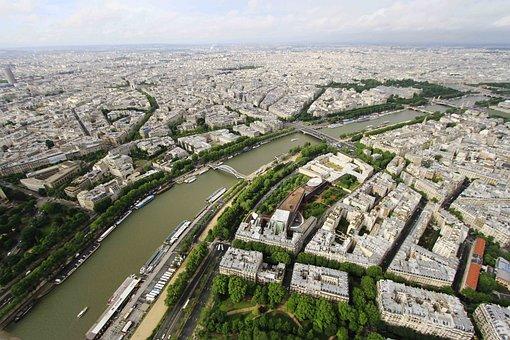Seine River, Eiffel Tower, Seine, River, Paris, France