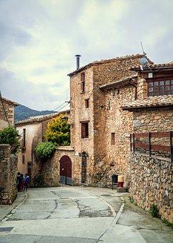 Landscape, Rustic, People, Pyrenees, Houses, Street