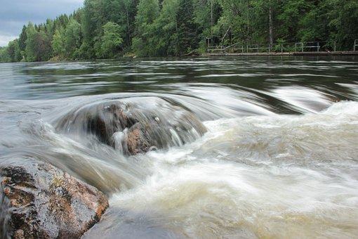 Konnekoski, River, Koski, Finland, Suomi, Water, Summer