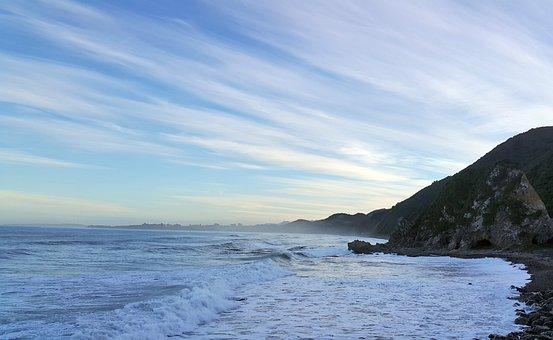 Sea Mist, Sea Fog, Kaikoura, New Zealand, East Coast