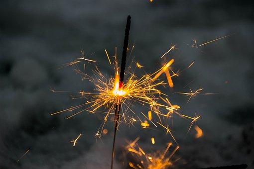Star Splashes, Silvester, Fireworks, Sparkle, Star