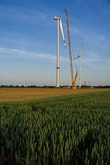Wind Power, Energy Revolution, Site, Crane, Assembly