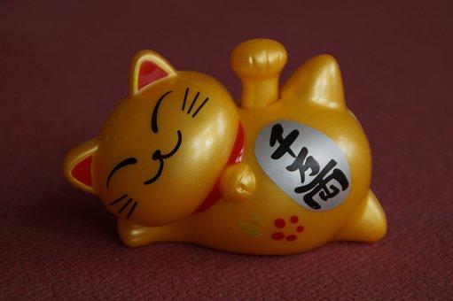 Lucky Cat, Lucky Charm, Japanese, Manekineko, Spiritual