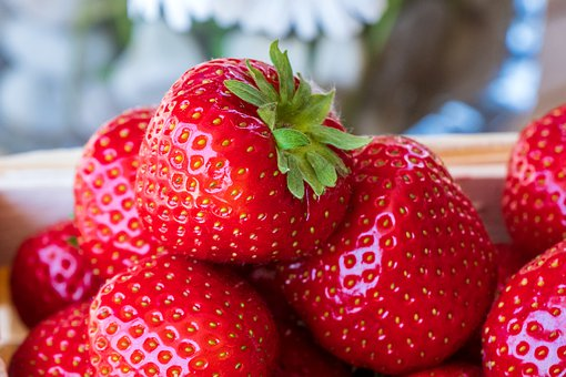 Strawberries, Fresh, Fruit, Red, Sweet, Eat, Healthy
