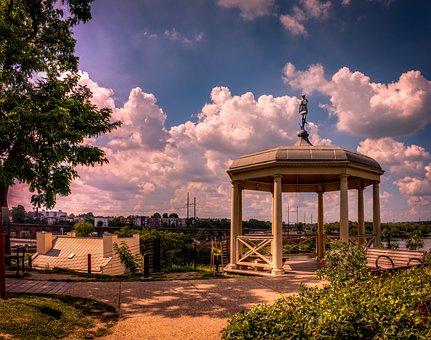Landscape, Philadelphia, Gazebo, City, Urban