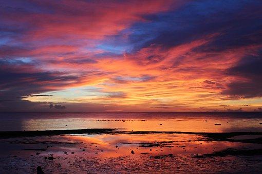 Sunset, Vacation, Beauty, Summer, Ocean, Holiday