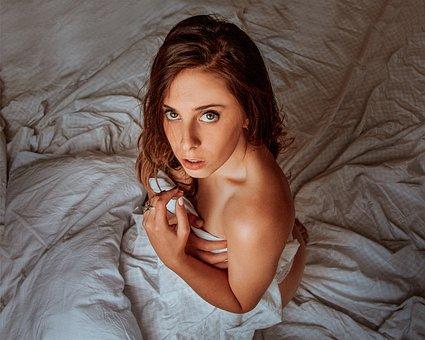 Dawn, Bed, Shadow, Tomorrow, Faces, Portrait, Women