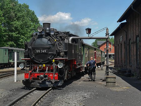 Steam Locomotive, Narrow Gauge Railway, 750mm, Zittau