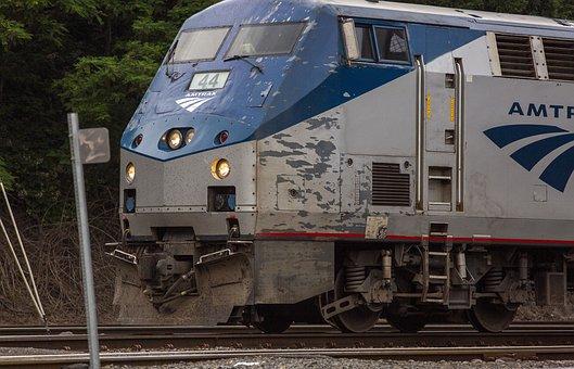 Trains, Amtrak, Railroad, Transportation, Locomotive