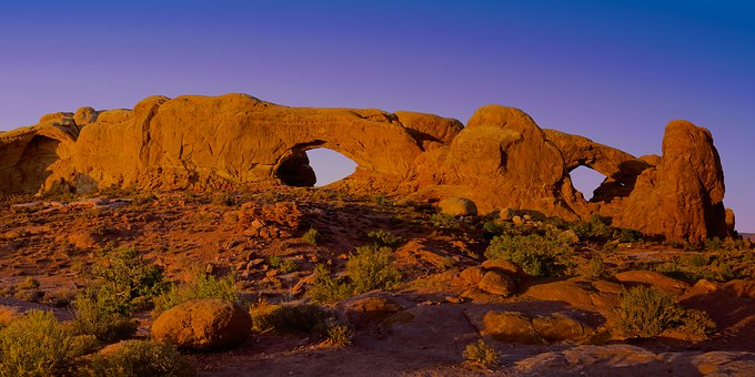 Arches National Park, North Window Arch
