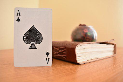 Diary, Ace, Card, Cards, Casino, Game, Trick, Handmade