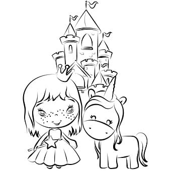 Coloring Pages, Children, Imagine, Coloring Page, White