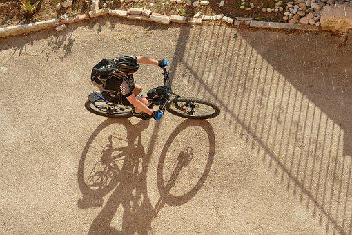 Bicycle, Cyclist, Mountain Bike, Above, Sports, Cycling