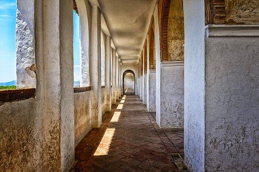 Gang, Floor, Architecture, Old, Alhambra, Granada