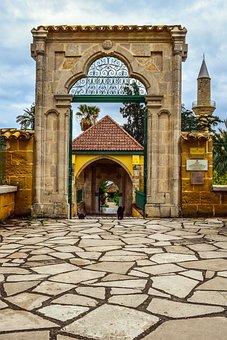 Cyprus, Larnaca, Hala Sultan Tekke, Mosque, Entrance