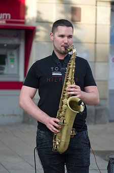 Man, Boy, Young, Singing, The Saxophone, Interpreting