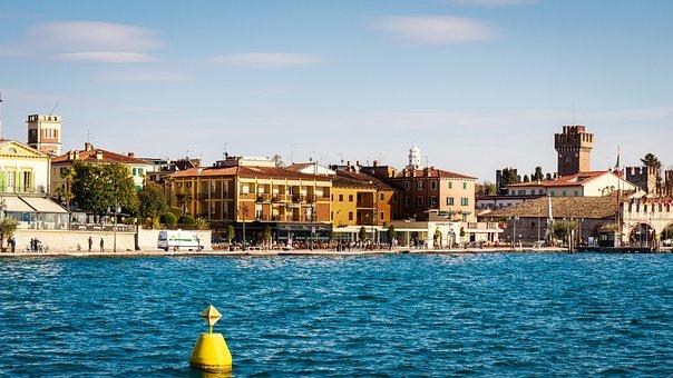 Lazise, Garda, Lago Di Garda, Italy, Boats, Port