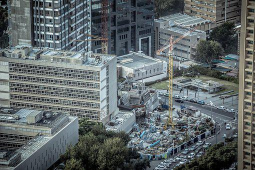 Construction, Site, Dirty, Machinery, Crane