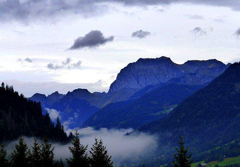 Nature, Mountain, Mist, Landscape, Clouds, Alpine