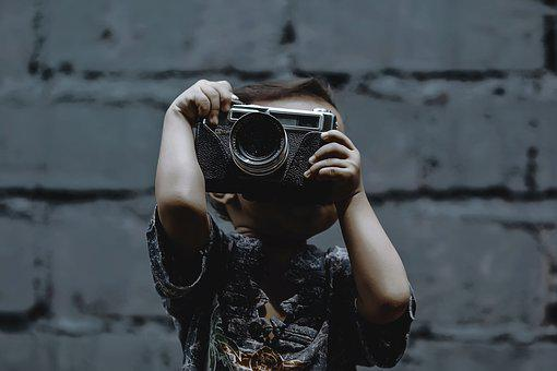 Boy, Kid, Passion, Photographer, Child, Happy, Cute