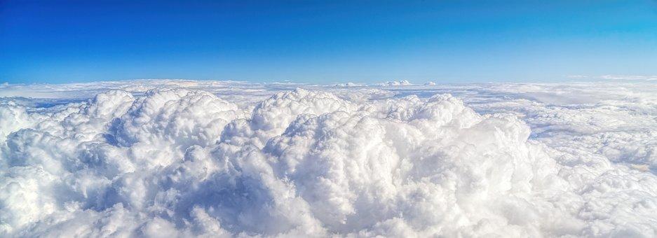 Clouds, Sky, Top, Selva Marine, Cumulus, Sun, White