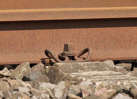 Rail Clamp, Track, Threshold, Gravel, Railway
