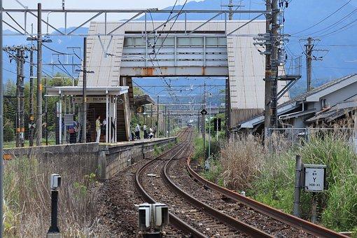Landscape, Train, Track, Station, Traffic, Travel