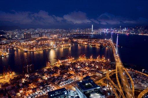 Transport, Traffic, Night, City, Transportation