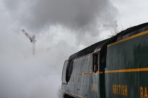 Steam, Train, Locomotive, Railway, Transportation