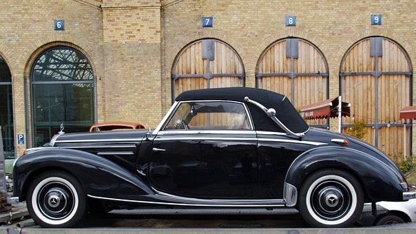 Mercedes, W188, Cabriolet, Oldtimer, Vehicle