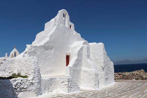 Chapel, Mykonos, Greece, Greek Island, Aegean Sea