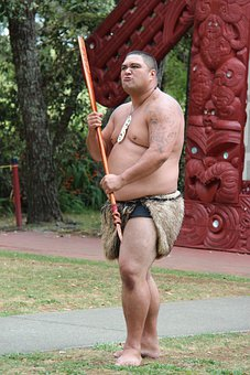 Maori, Man, Spear, Fighter, Warrior, Grim, Attack