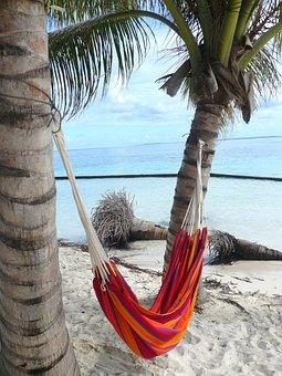 Caribbean, Joe, Islet, Hammock, Sea, Beach