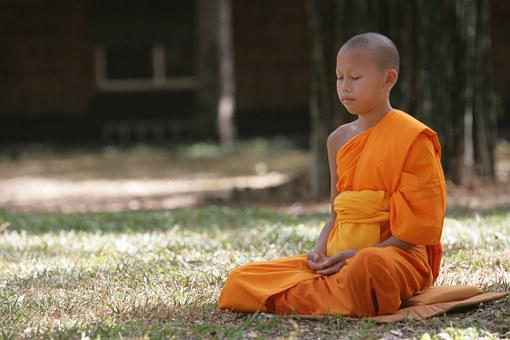Novice, Boy, Buddhist, Meditate, Wat, Phra Dhammakaya