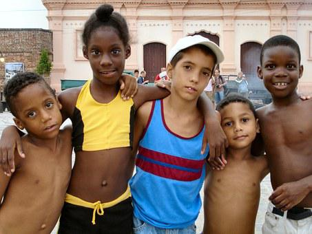 Cuba, Children, Boys, Group, Children Playing