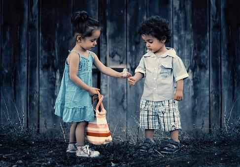 Siblings, Brother, Sister, Children, Girl, Boy, People