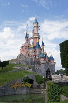 Castle, Princess, Disneyland, Paris, Sky