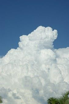 Cloud, Thunderhead, Fluffy, Large, White, Cumulo Nimbus