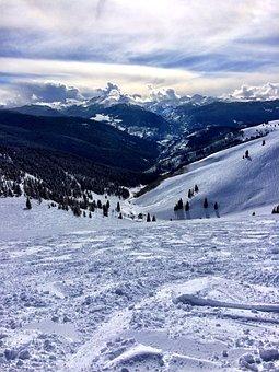 Vail, Snow, Ski, Colorado, Winter, Cold, Sky, Landscape