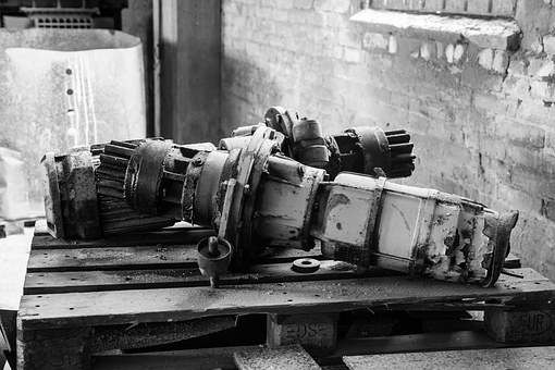 Broken Industrial Items, Decay, Abandoned Tools, Tools