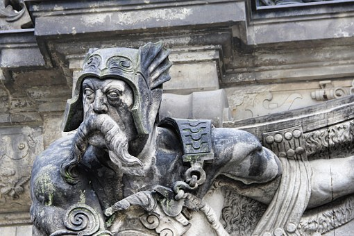 Grim, Statue, Dresden, Stone Figure, Stone, Quenching