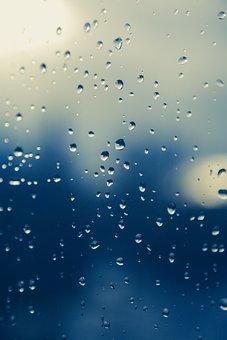 Raindrop, Window, Rain, Drip, Beaded, Wet