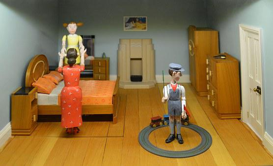 Doll's House, Figurines, Macro, Architecture, Childhood