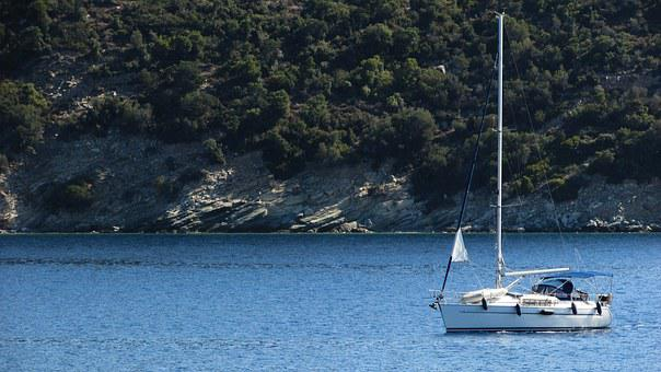 Greece, Pelio, Peninsula, Landscape, Coast, Yacht