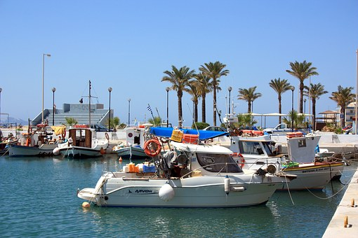 Greece, Greek, Island, Aegean, Palm Trees, Water, Sea